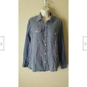 Artisan De Luxe Anthropologie Plaid Shirt Top NWOT